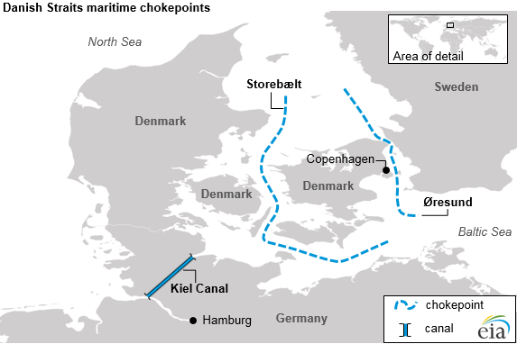 The danish and turkish straits are critical to europes crude oil map of danish straits maritime chokepoints as explained in the article text gumiabroncs Choice Image