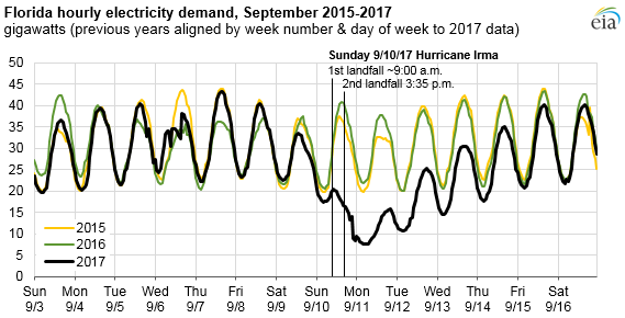 graph of Florida hourly electricity demand, as explained in the article text