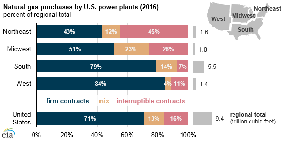 natural gas purchases by U.S. power plants, as explained in the article text