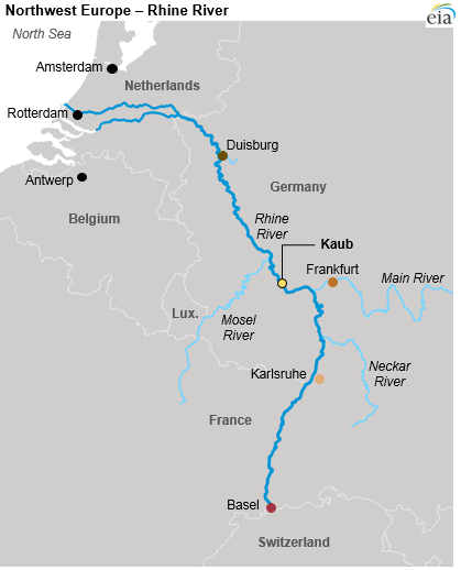 Low Rhine River water levels disrupt petroleum product shipments to on map of rastatt, map of münster, map of monchengladbach, map of saarland, map of basel, map of osterholz-scharmbeck, map of nurtingen, map of nordlingen, map of marburg, map of herzogenaurach, map of porto, map of hamm, map of bowbells, map of hindenburg, map of schwaben, map of bruchsal, map of oberpfalz, map of remagen, map of holzkirchen, map of cochem,