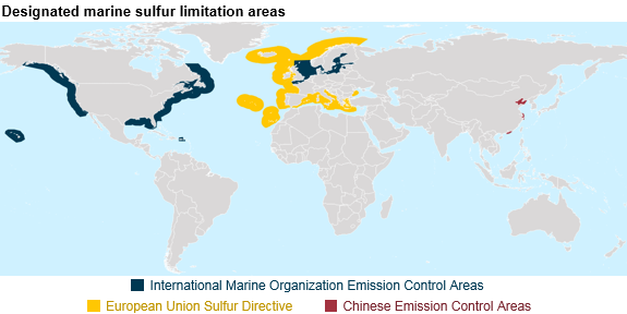 designated marine sulfur limitation areas