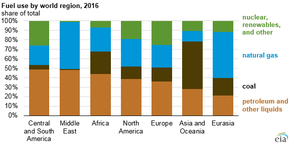 fuel use by world region