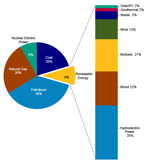 Renewable Energy by Source diagram image